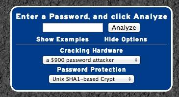 Opciones de PassFault. Como crear una contraseña segura