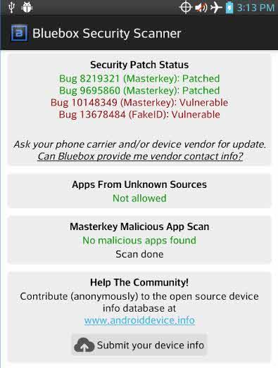 BlueBox Security Scanner