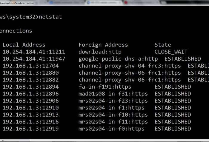 Como usar NetStat en Windows