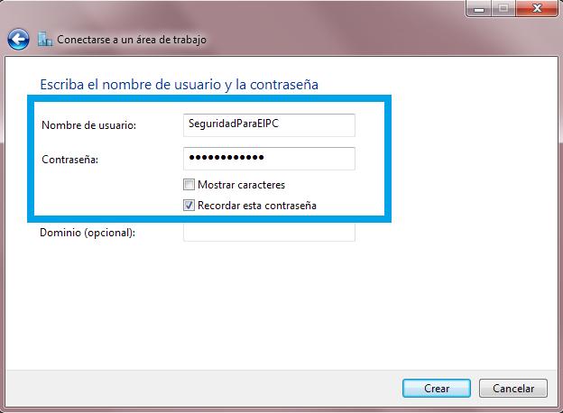 Definir parámetros VPN 2
