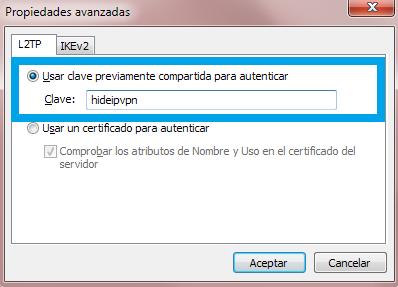 L2TP clave