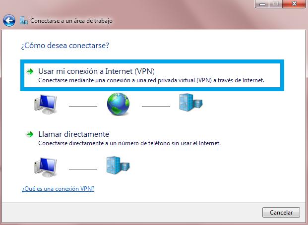Usar mi conexión - VPN