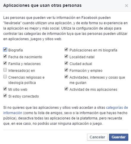 Apps que usan otras personas en Facebook 2