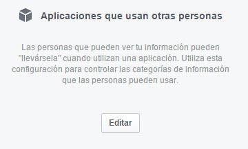 Apps que usan otras personas en Facebook