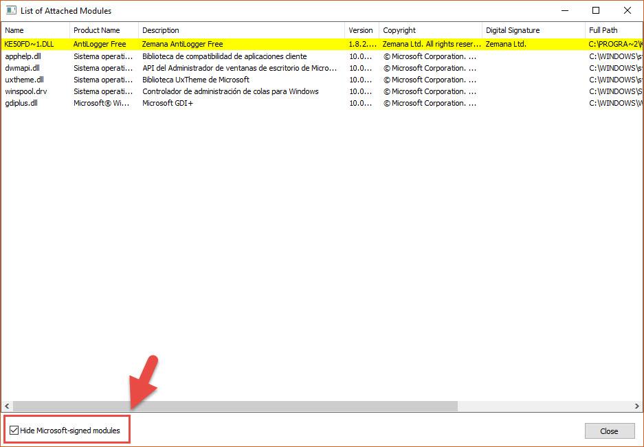 Detectar spyware con SpyDetect