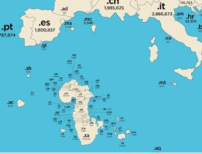 Internet world map 3
