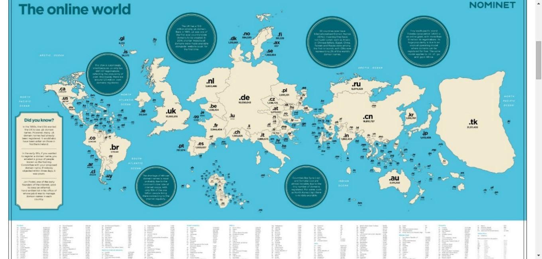 Internet world map - The online World