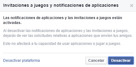 Invitaciones a apps de Facebook