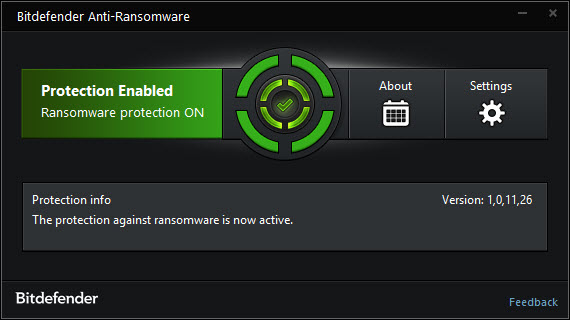 Bitdefender anti-ransomware vaccine