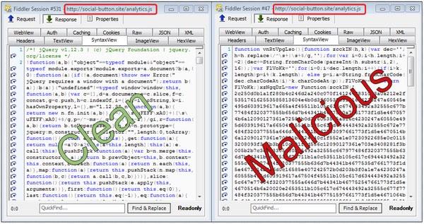 Falsos botones sociales en webs distribuyen el kit Angler Exploit