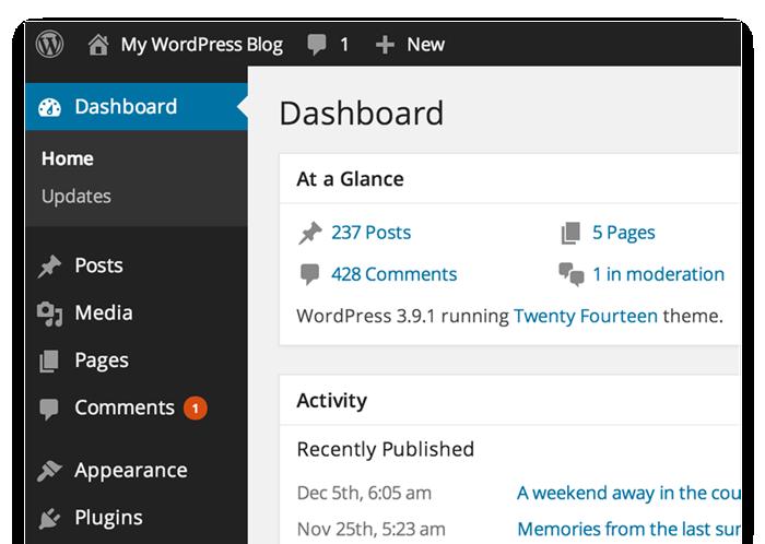 Panel de instrumentos de WordPress.com