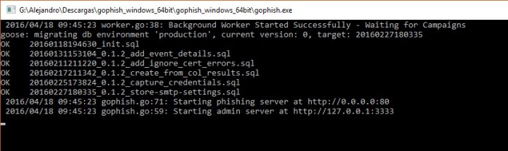 GoPhish CMD