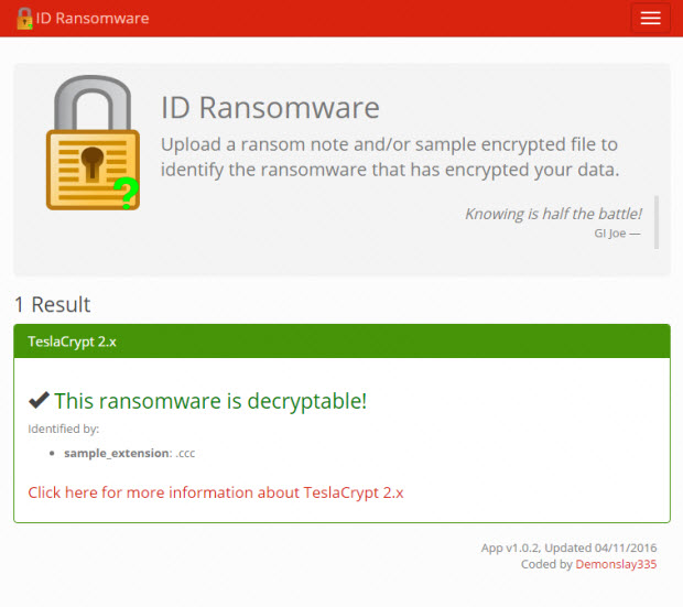 ID Ransowmare resultados