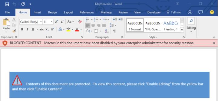 Macros bloqueadas en Microsoft Office