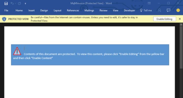 Vista protegida en Microsoft Office