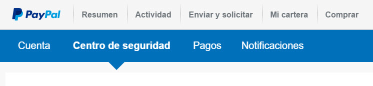 Centro de seguridad de PayPal