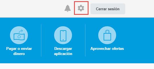 Configuración de cuenta de Paypal