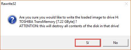 Instalar CentOS desde USB con Rawrite32 2