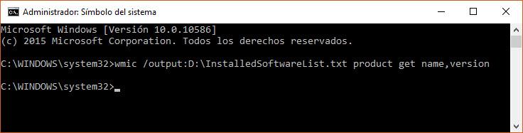 Listar todos los programas instalados en Windows, en un paso