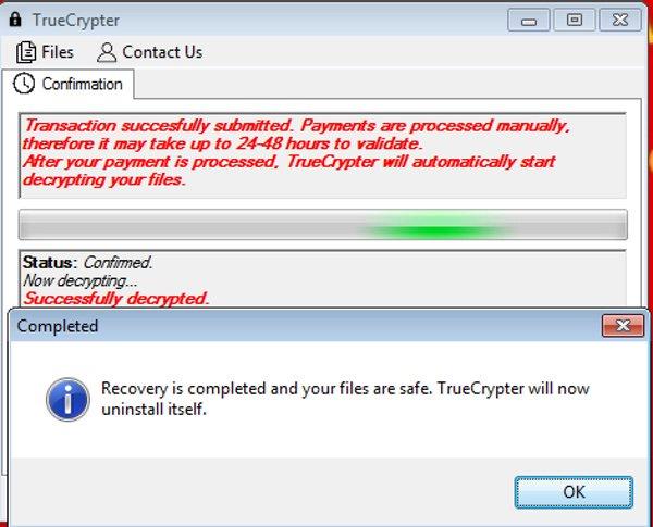 Ransomware TrueCrypter contiene error que devuelve los archivos o los deja irrecuperables