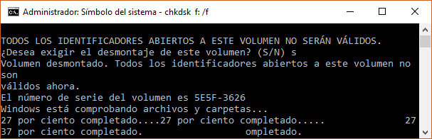 Scandisk con desmontado unidad