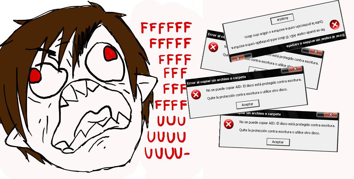 Varias formas de quitar la protección contra escritura en tarjetas SD o pendrives