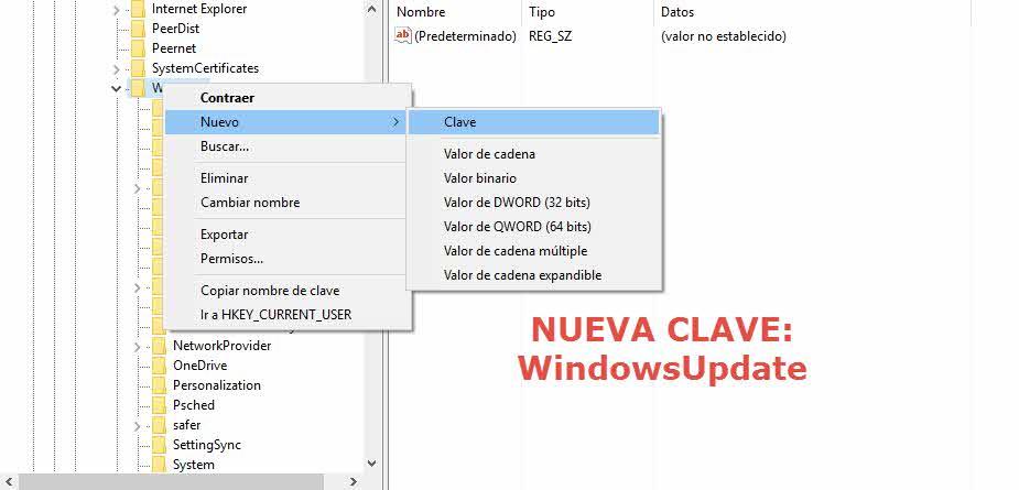 Cómo bloquear la actualización a Windows 10 con Editor de registro