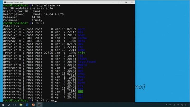 Bash Shell incluído en Windows 10 Anniversary Update