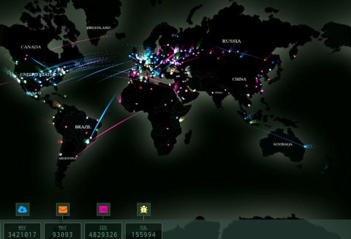Mapas de ciberataques en tiempo real
