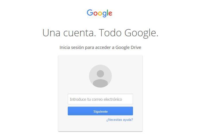 Inicio de sesión en Google
