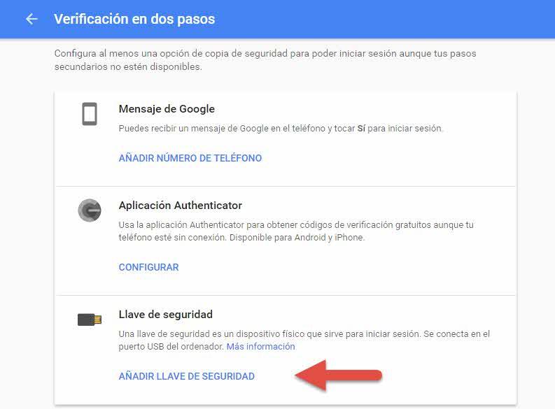 activar-fido-en-google