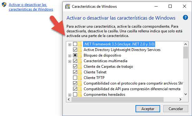 Habilitar cliente telnet en Windows