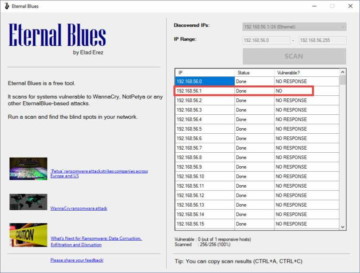 Análisis de vulnerabilidades Eternal Blues
