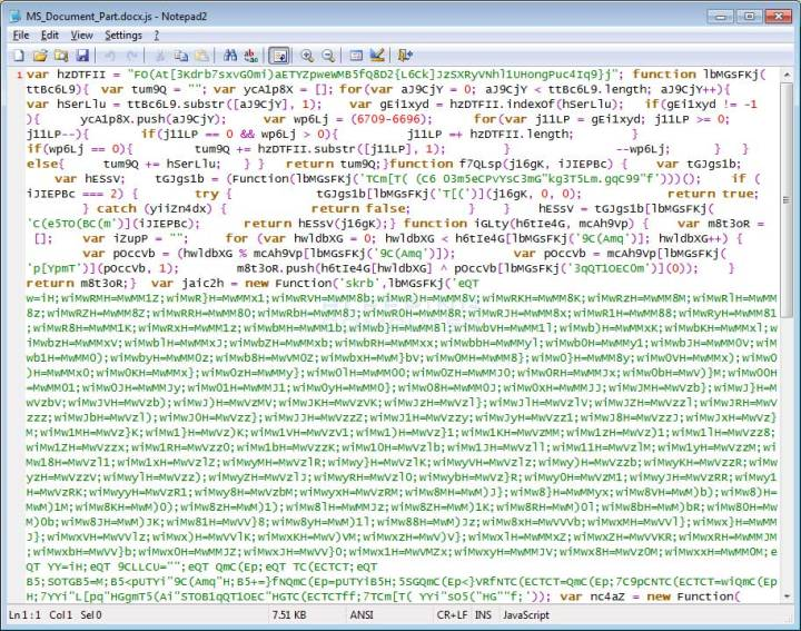 Archivo Javascript ofuscado