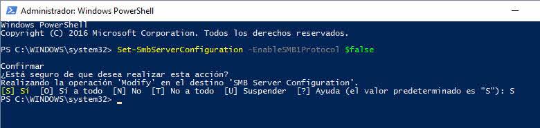 Desactivar SMB1.0