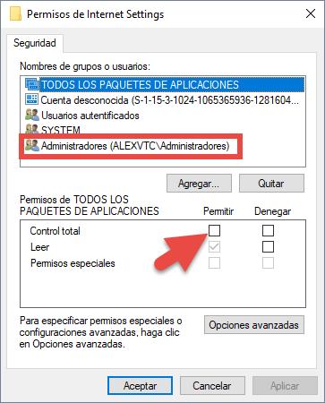 Solución al problema con el proxy en Windows 10