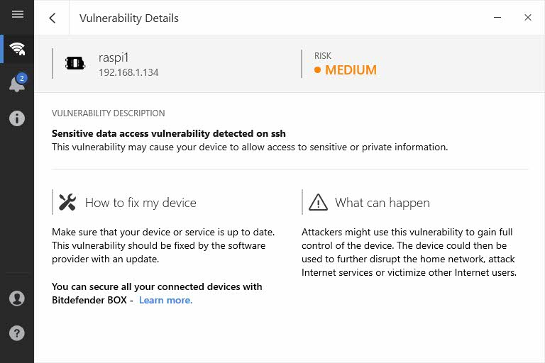 Vulnerabilidades en red local - Raspberry