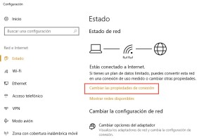 Conexiones de uso medido Windows 10 2