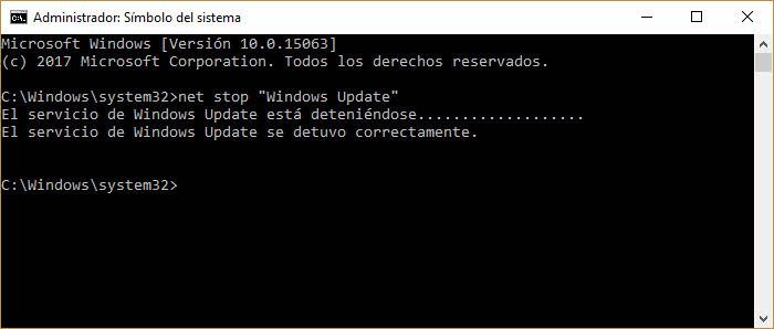 Detener Windows Update