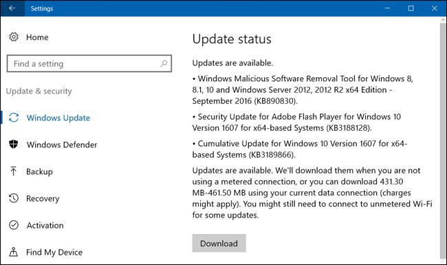 Deshabilitar actualizaciones automáticas Windows