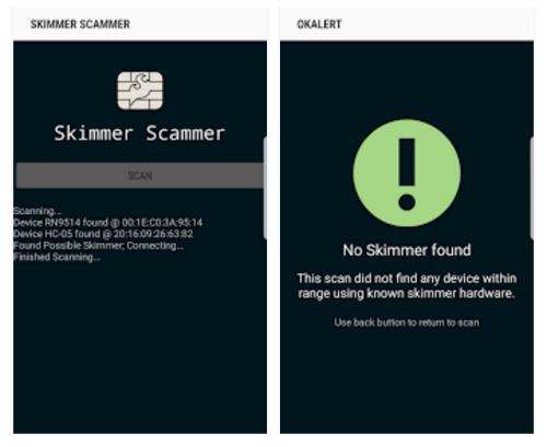 Skimmer scanner