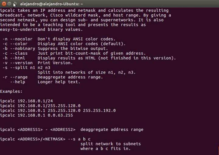 ipcalc Ubuntu