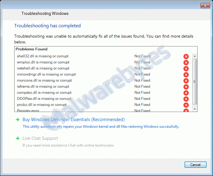 Falso antivirus WIndows Defender Essentials
