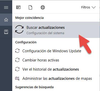 Estado de actualizaciones de Windows
