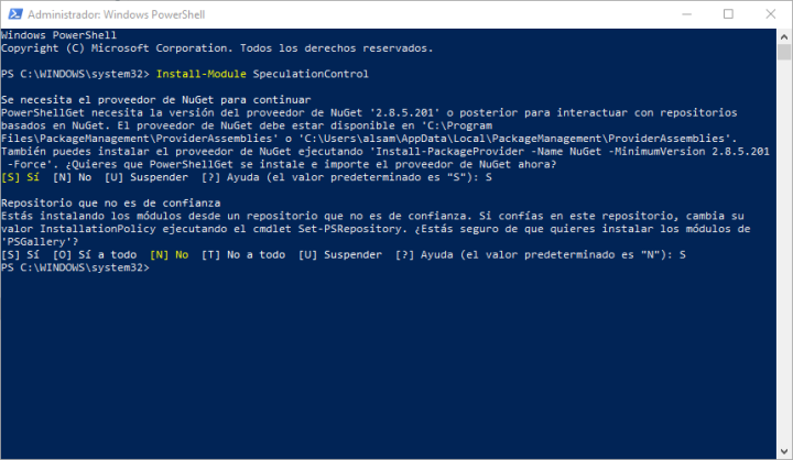 Install-Module SpeculationControl
