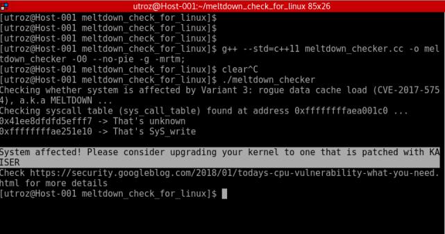 Meltdown Linux