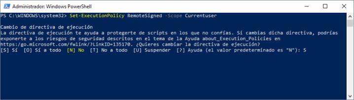 Set-ExecutionPolicy RemoteSigned -Scope Currentuser