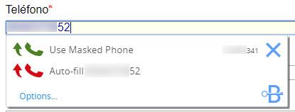 Enmascarar teléfono en internet