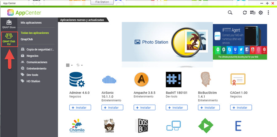 Instalar repositorio QNAP Club