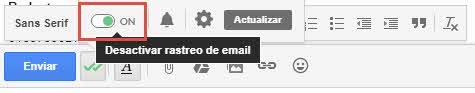 Activar o desactivar Mailtrack
